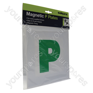 B1094 Sakura Green P Plate Magnetic Strip