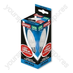 Eveready 2.5 Watt Led Candle Es E27 Warm White