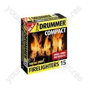 B1536 Drummer Compact 15 Firelighters