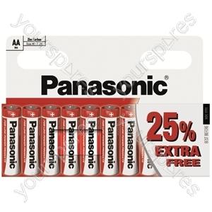 AA Panasonic Zinc 8pk + 25% R6rz/10hh