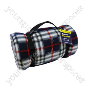B1147 Sakura Travel Blanket 200g Tartan Fleece