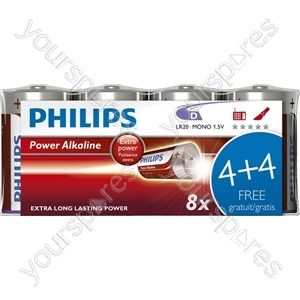 Philips D Power Alk 4+4free (lr20p8f/10)