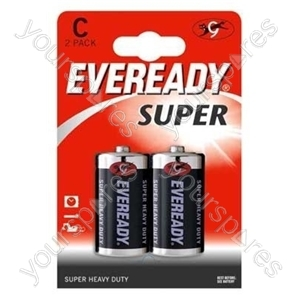 C 2pk Eveready R14 Sup 620466
