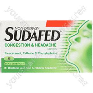 B1111 Sudafed Congest & Head Non Drowsy 16