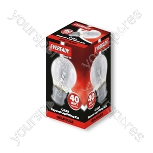 Eveready 40watt Bc Clear Golf Eveready