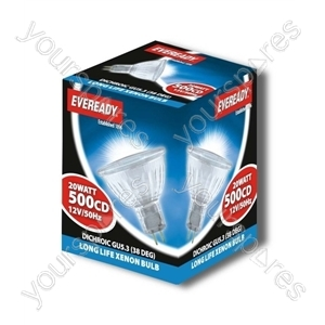 Eveready Dich 20w 12v Mr16 Ll Xneon 5000 Hours