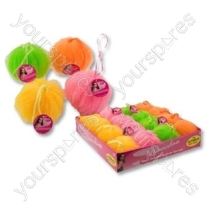 B13 Neon Exfoliating Body Sponge With Rope Loop x 1