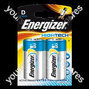D** Energizer D Hi Tech Pk2 632870