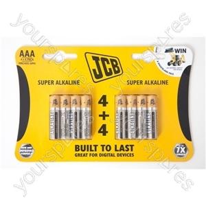 Jcb Lr6/aa 4+4 Sup Alk Cdu 12pks