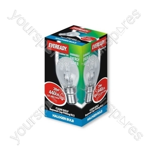 Eveready Bc Golf (40w) 28w Clear B22