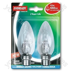 Eveready G45 Halogen Golf 42w(60