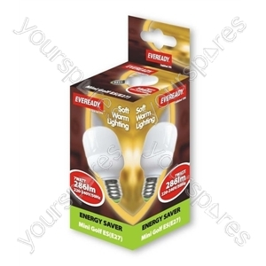 Eveready Energy Saving Golf 7w Es Soft Lite