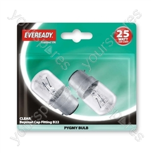 Eveready Pygmy25w Bc Clr Blx2