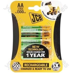 JCB Jcb Rx6/aa 1300mah 4 Pk 10 Per Inner 40 Per Outer