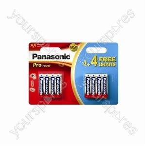 Panasonic AA Pro Gold 4+4 Free Lr6ppg/8bw 4+4 Free