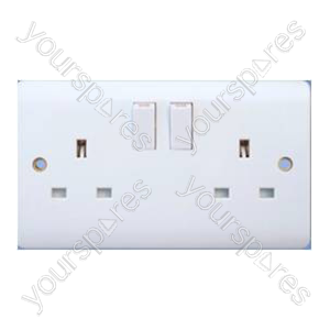 B445 2gang 13amp Switched Socket