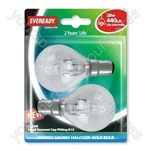 Eveready Sbc Gol (40w) 28w Clear B15 Blister Of 2