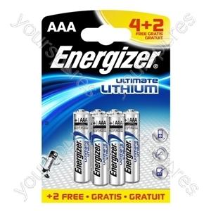 Energizer L92 4 +2 Free Lithium 629763