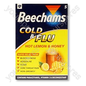 B860 Beechams Cold & Flu Honey Lemon Drink 5's