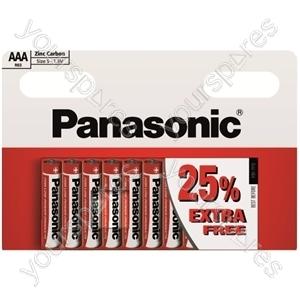 AAA Panasonic Zinc 8pk + 25% R03rz/10hh