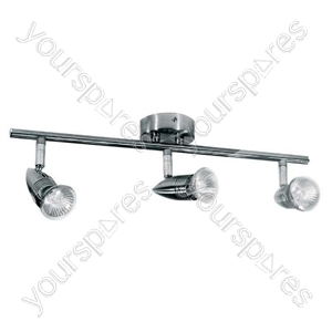 Indoor Basic 3 Spot Bar Chrome