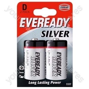 Eveready D Silver Pk2 621070