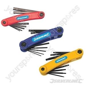 T10 - T40 & Hex Key Tools Set 3pce - 3pce