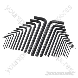 Hex Key Long Series Set 25pce - Metric & AF