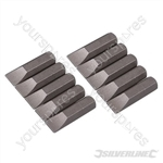 Slotted Cr-V Screwdriver Bits 10pk - Slotted 7mm