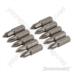 Phillips Cr-V Screwdriver Bits 10pk - PH1