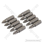 Pozidriv Cr-V Screwdriver Bits 10pk - PZ1