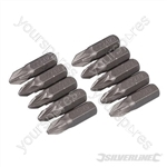 Pozidriv Cr-V Screwdriver Bits 10pk - PZ2