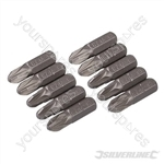 Pozidriv Cr-V Screwdriver Bits 10pk - PZ3