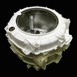 is tub complete assembly with bearings and heater element
