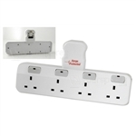 4 Way 13A Switched Adaptor With Anti-Surge