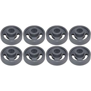 8 x Dishwasher Lower Basket Roller Wheel Hotpoint Indesit Ariston