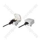 3A Euro Converter Plug Which Converts 2 Pole Euro Plug To 3 Pin UK Plug