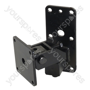 Heavy Duty  Speaker Wall Bracket with Tilt and Turn - Colour Black