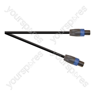 Professional 4 Pole Speakon Plug to 4 Pole Speakon Plug Speaker Lead With 2x 1.5mmHighflex Cable - Lead Length (m) 1