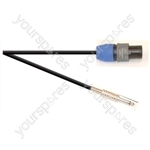 Premium 2 Pole Neutrik Speakon Plug to 6.35mm ELV Jack Plug Speaker Lead With 1.5mm Highflex Cable - Lead Length (m) 6