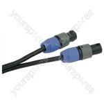 Professional 2 Pole Speakon Plug to 2 Pole Speakon Plug  Speaker Lead 2x 1.5mm Highflex Cable - Length (m) 20