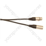 DMX 5 Pin XLR to 5 Pin XLR Lighting Lead - Length (m) 6