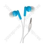 In-Ear Stereo Earphones - Colour Blue