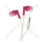 In-Ear Stereo Earphones - Colour Pink