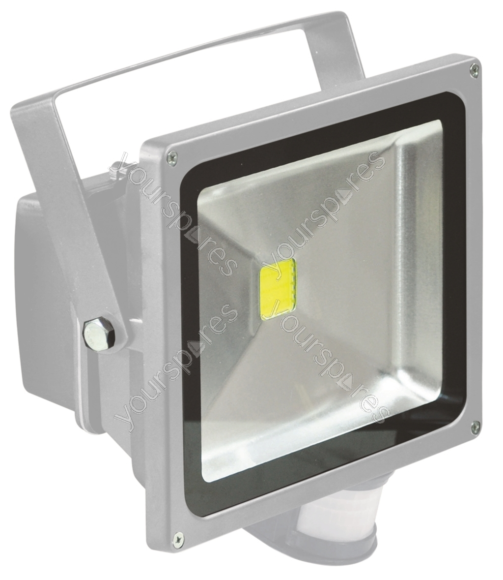 Outdoor Light Pir Override: Grey 30 W LED Flood Light With PIR Sensor L320CPG By Eagle