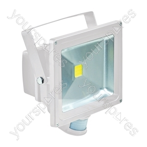Eagle 50W LED Flood Light with PIR and PIR Override Facility - Colour White