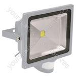 Eagle 50W LED Flood Light with PIR and PIR Override Facility - Colour Grey