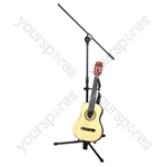 Microphone Stand with Boom Arm, Tripod Base and Guitar Stand