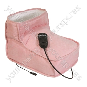 Aidapt Electric Dual Speed Soft Massaging Foot Boot with Heat - Colour Pink