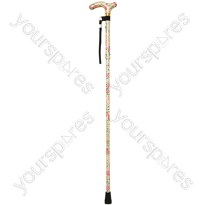 Deluxe Folding Walking Cane  - Colour Blossom